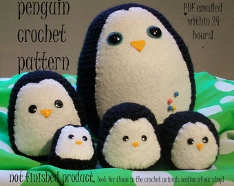 Crochet Pattern: Penguin amigurumi PDF