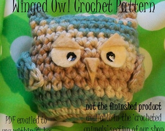 Crochet Pattern: Winged Owl amigurumi PDF