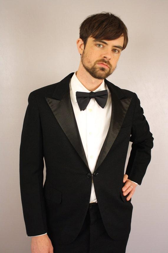 1930s Tuxedo Mens Tuxedo Vintage Wool Black Tie Tux