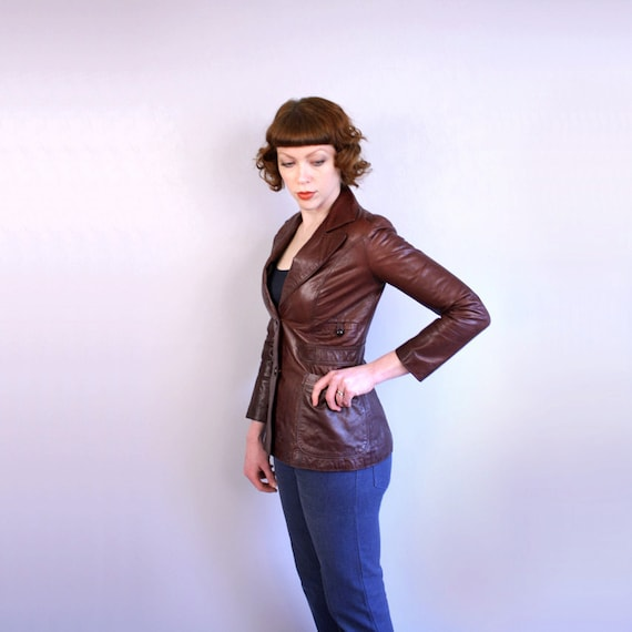 vintage 1970s leather jacket / Crae Carlyle / a little bit of rock'n'roll