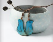 Turquoise birds earrings
