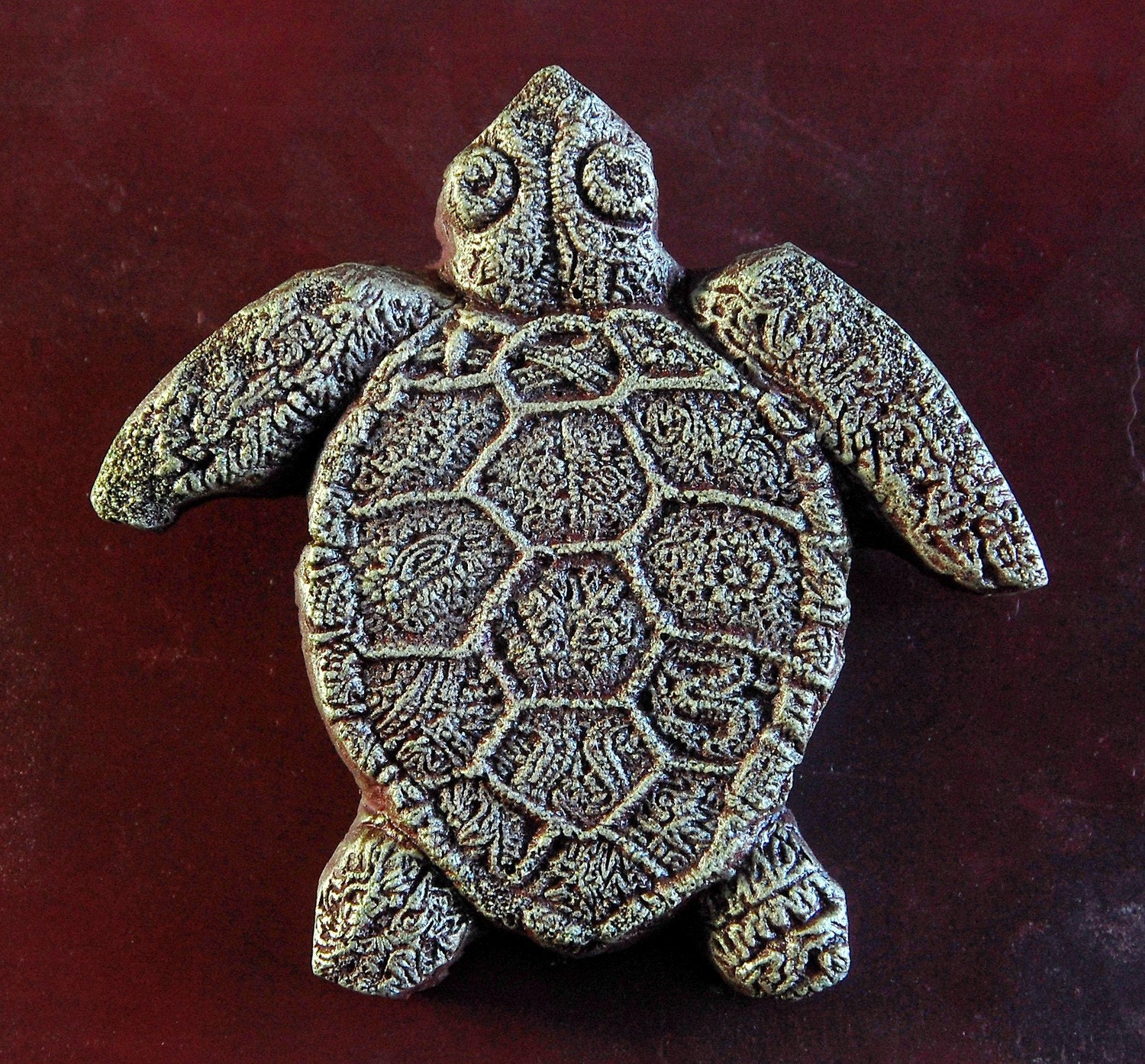Turtle stone art wall plaque miniature sculpture sea turtle for Stone wall art