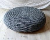 Crochet stool cover - gray
