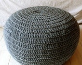 Pouf Crochet  big - gray