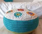 Floor Cushion Crochet hexagons big