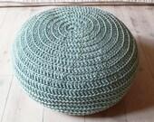 Pouf Crochet medium - aqua