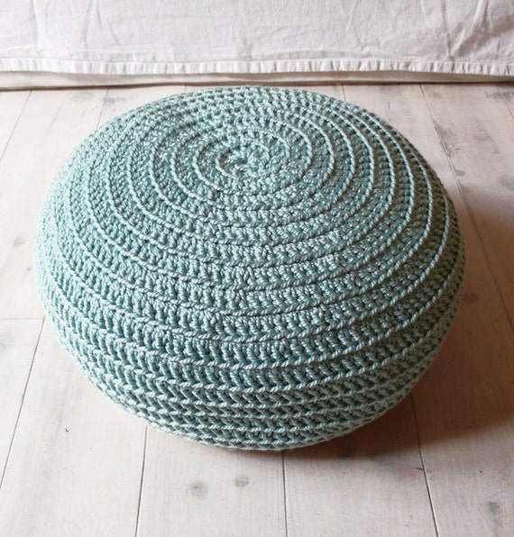 Pouf Crochet medium - aqua