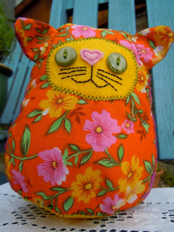 Cuddly soft tropical toy cat