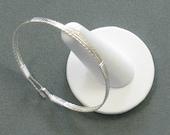 Seven inch Silver cuff bangle