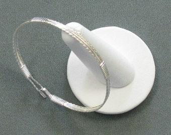 Silver-filled 8 inch cuff bangl