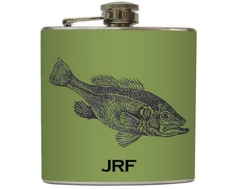 Personalized Flask with Your Initials on Any Flask Design Listed In Liquid Courage's Shop - Stainless Steel 6 oz Liquor Hip Flask