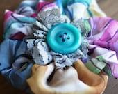 Colorful Handmade Gauze Corsage Brooch FREE SHIPPING (079)