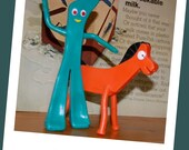Gumby and Pokey bendable figures