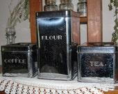 Vintage Kreamerware canisters