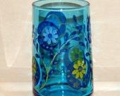 Vintage Blue Flower Juice Glasses