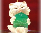 Hallmark Keepsake Ornament Friendship Kitten 1990