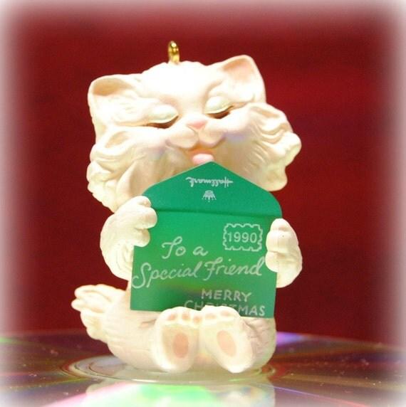 Hallmark Keepsake Ornament Friendship Kitten 1990