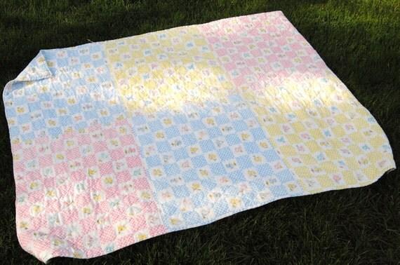 Handmade vintage baby blanket