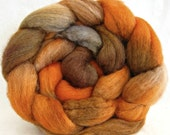 hand painted wool roving, bfl silk, spinning fiber: combed top, felting supplies