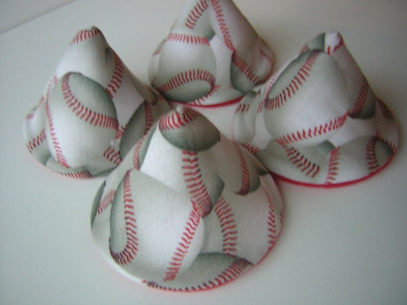 Little Slugger Baseball - PeE WeE TinkLE TeNtS  - Set of 4 - Inside is RED -  white boutique baby - LOW LoW Shipping
