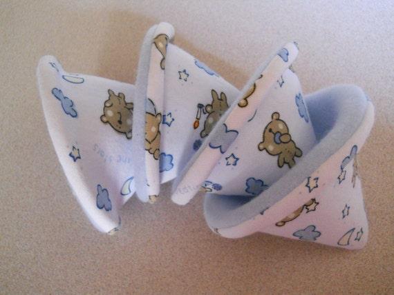 "Pee Pee Tee Pee -- Set of 4 -Baby Boy Shower Gift -  ""Sleepy Bedtime Bear"" - teddy bear stars moon- Top Seller"