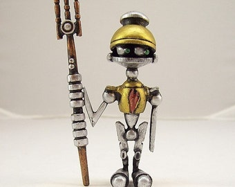 Robot Wedding Cake Toppers Steampunk Wood By Buildersstudio