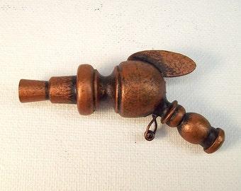 Atlantian Finned Miniature Retro Ray Gun Wood Pendant Ornament Dangle