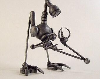 The Seeker Robot Figure Wood Sculpture Statue