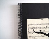 Songbird, Reclaimed Paper Notebook by newleafhandmade on Etsy