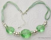 Silver Emerald Necklace
