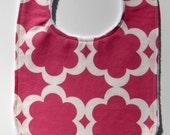 Pink modern flower  boutique bib