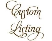 Custom Listing for Curry: Elephant boutique burp cloth set