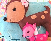 Felt Pattern - Dottie Deer Felt Plushie and Ornament - PDF Pattern