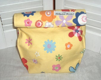 Basic Lunch Sack, May Flowers