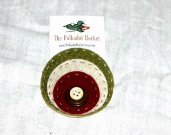 Autumn layered circles hair clip