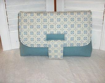 Wedgewood Blue strap clutch