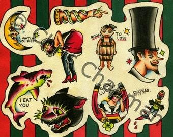 Original Tattoo Flash Sheet