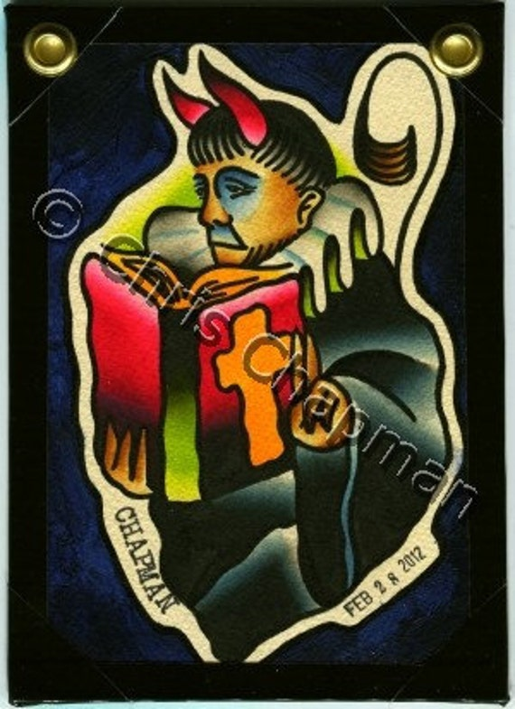 Devil Priest Original Tattoo Flash