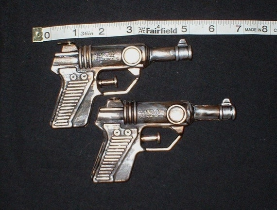 Steampunk Guns Matched Pair Gold and Silver