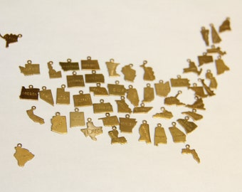 ADD ON CHARM add another state charm to your state charm necklace or bracelet all 50 states available