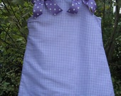 A-line Gingham Jumper Without Monogram