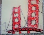 San Francisco Golden Gate Bridge Original Art with Collage