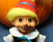 "Vintage Russ Storybook Pinocchio Troll Doll VERY RARE with Yellow Hair  is approximately 6"" tall"