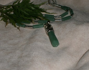Jade Green Hexagone Pendant