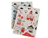 Gemma Correll's Welcome to the Circus Notebook (Red Cover)