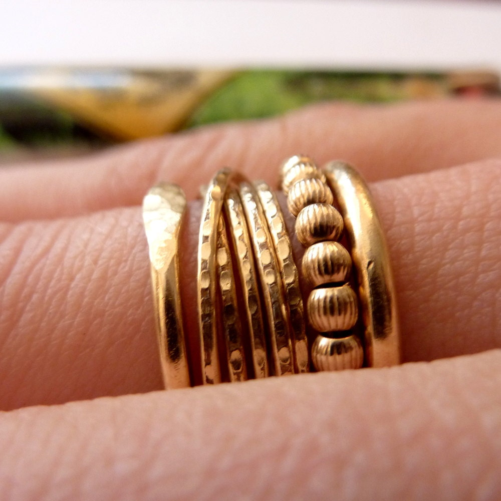 interlocking gold ring russian stacking ring by venexiajewelry. Black Bedroom Furniture Sets. Home Design Ideas