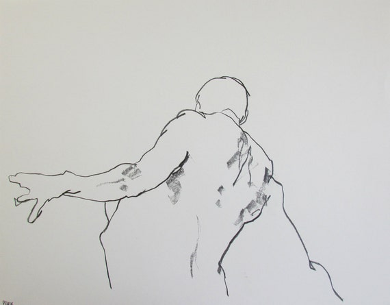 Abstract Life Drawing Abstract Figure Drawing 11 x