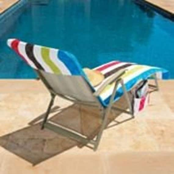 LOUNGE CHAIR COVER BEACH TOWEL NWT PERSONALIZED FREE