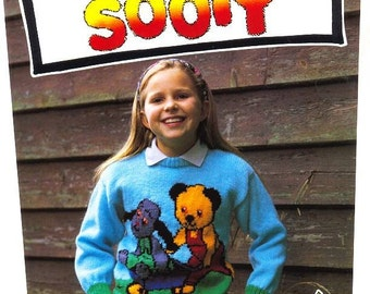 SOOTY and SWEEP Sweater Knitting Pattern Sooty and Sweep Sweater Knitting Pattern Original Knitting Pattern