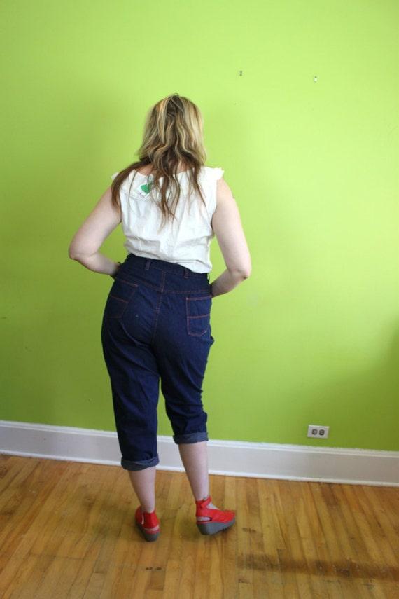 Pants Jeans Capri Pedal Pushers Vintage 1950s 50s Rockabilly